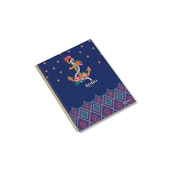 A5 Spiral Book 80sh Boho Chic Lin