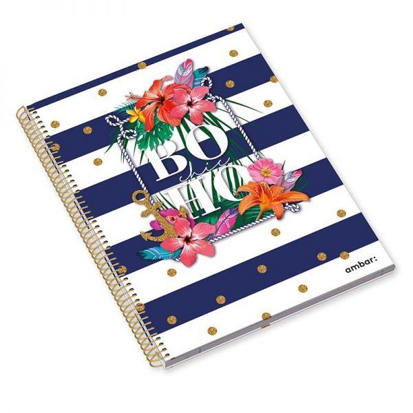 A4 Hardcover Sp Bk 120sh Boho Chic Lin