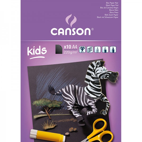 PAD CANSON 10S A4 220G BLACK