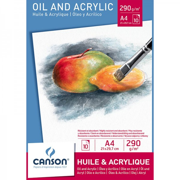 PAD CANSON ACRYLIC 10 S A4 290 G