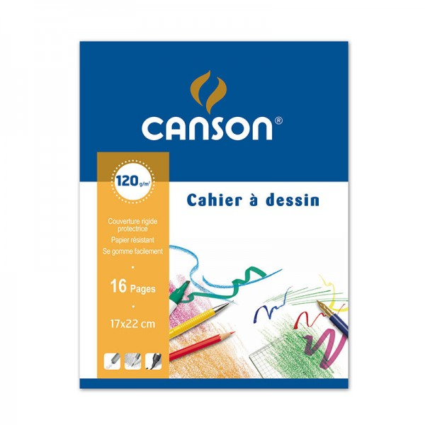 DRAWING BOOK CANSON 16P 17*22 120 G