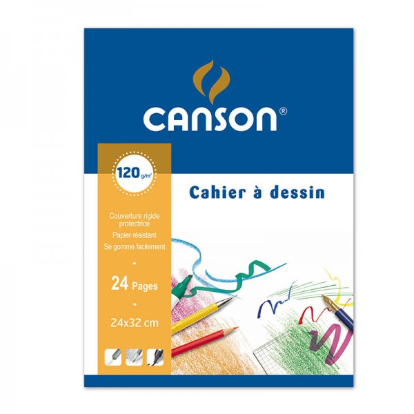 DRAWING BOOK CANSON 24 P 24*32 120 G
