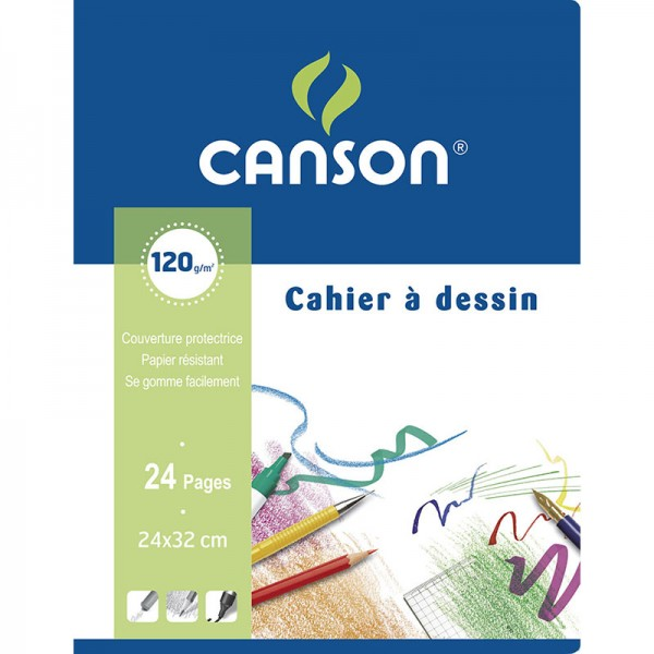 NOTE BOOK CANSON 24 SHEET 24*32 120 G