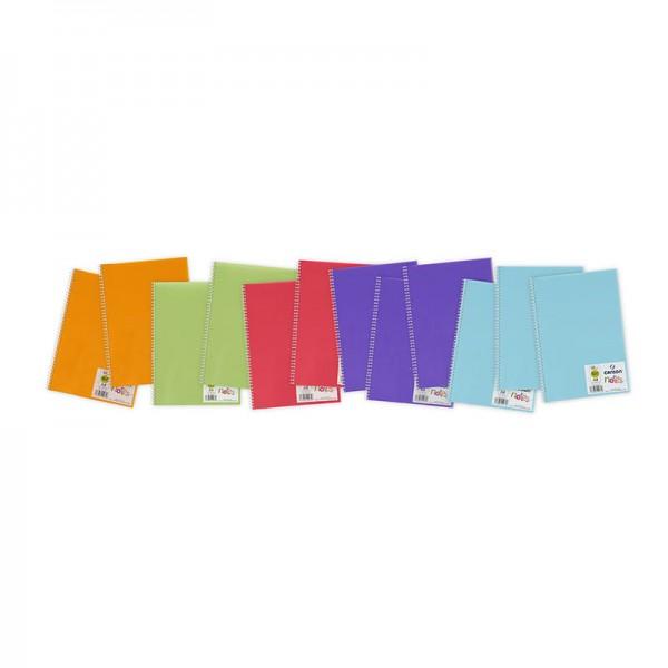 ART NOTE BOOK A4  ASST COLOR (blue.violet.pink.green.orange)