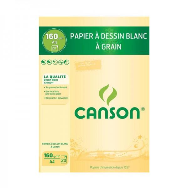 PAD CANSON 20S A4 DESSIN 160 G