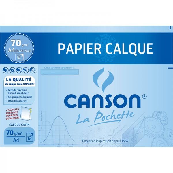 POCH CANSON 12 S A4 CALQUES 70G