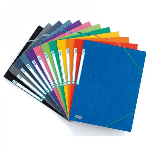 FOLDER  ELASTIC   A4 ASSORTED COLOR