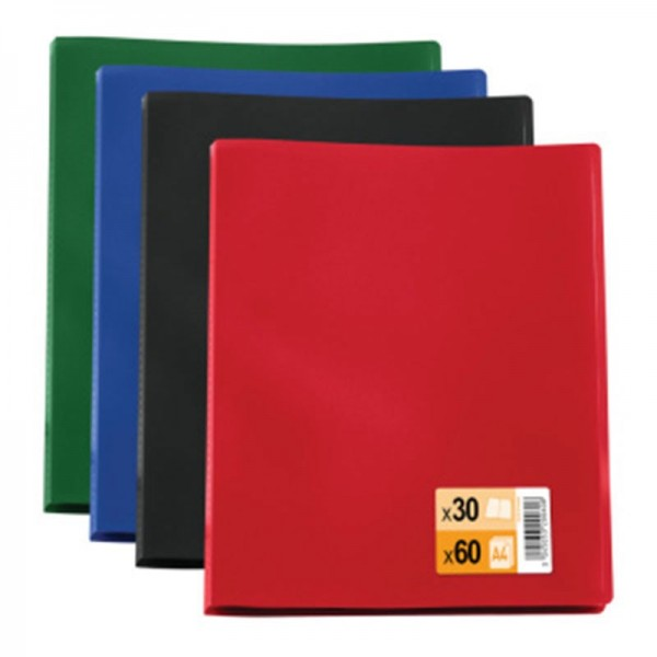 ELBA DISPLAY BOOK  A4 10 POCKETS PP ASSORTED COLOR