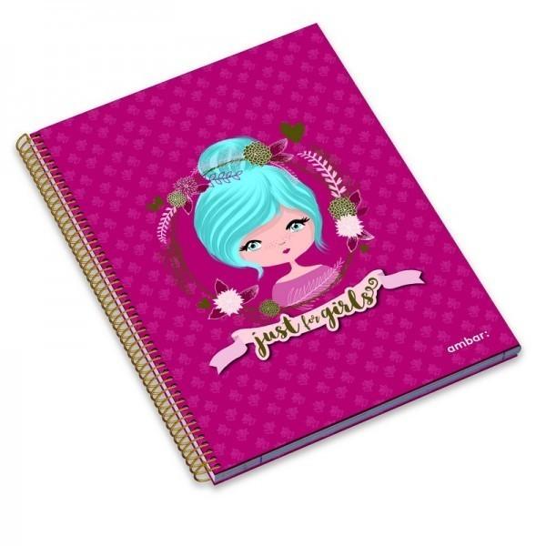 A4 Spiral Book 80sh Just 4 Girls Lin